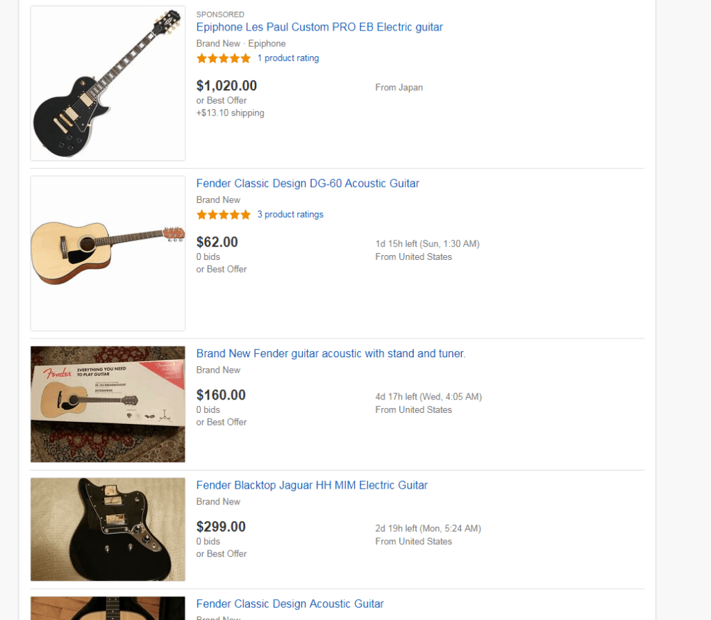 Buying A Guitar On Ebay How To Get A Bargain Instrumental Global