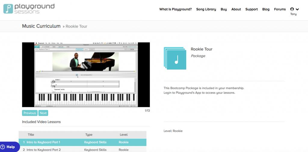 Learn piano online