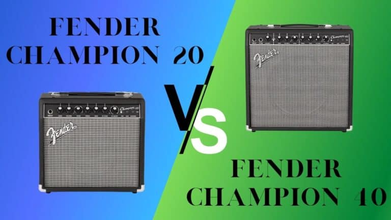 Fender Champion 20 vs 40: What's right for you?